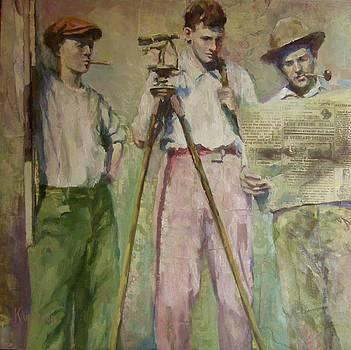 Three Surveyors by Katie Wilson