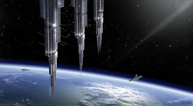 James Vaughan - Three Towers Earth Orbit - Asgardia