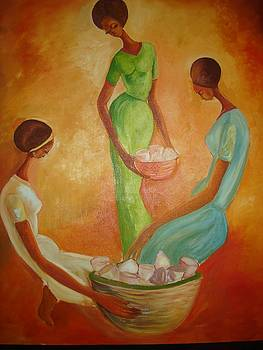 Three traditional Ethiopian women  by Mezemure Welde Kidane