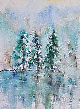 Three Trees in Winter by Adam VanHouten