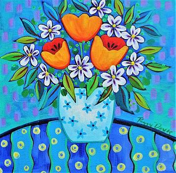 Three Tulips by Peggy Davis