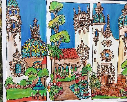 Three views of Balboa Park by Michelle Gonzalez