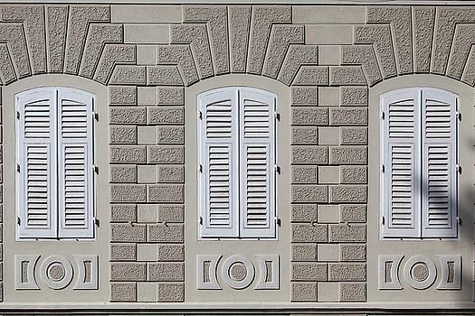 Three Windows Closed by Matjaz Preseren