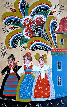 Three Women Dancing by Leif Sodergren