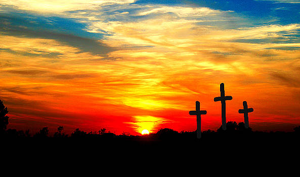Three Wooden Crosses by Kori Creswell