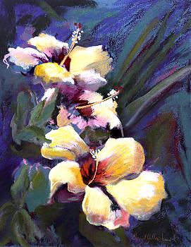 Three Yellow Hibiscus by Cheryl Yellowhawk