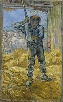 Thresher after Millet Saint Remy de Provence  September 1889 Vincent van Gogh 1853  1890 by Artistic Panda