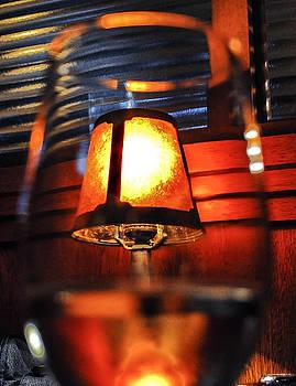 Through a wine glass by Terepka Dariusz