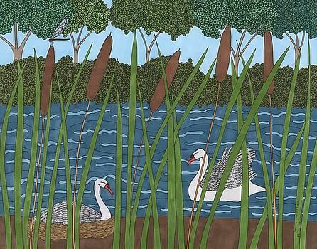 Through the Cattails by Pamela Schiermeyer