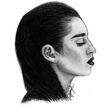 Lauren Jauregui Drawing By Sofia Furniel by Jul V