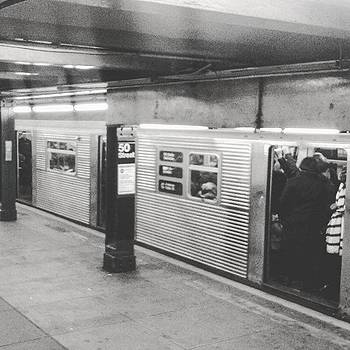 Throwback C Train Heading To Brooklyn! by Christopher M Moll
