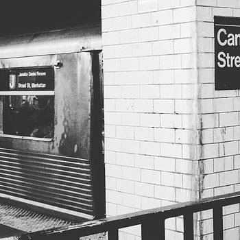 Throwback J Train At Canal St by Christopher M Moll