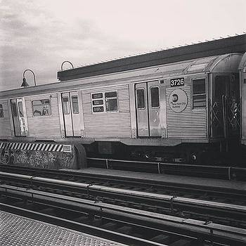 Throwback J Train At Halsey St by Christopher M Moll