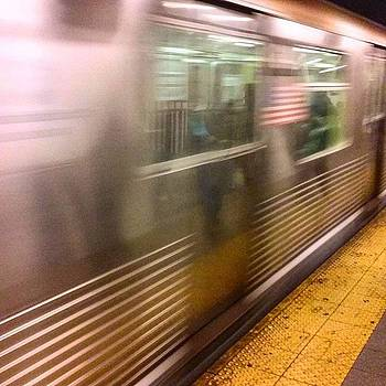 Throwback J Train Heading Downtown by Christopher M Moll