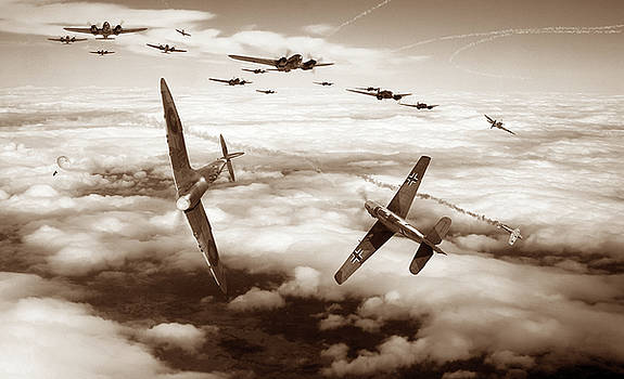 Thrust and Parry - Sepia by Mark Donoghue