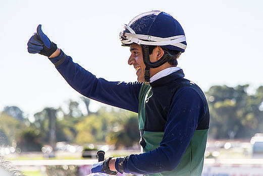 Venetia Featherstone-Witty - Thumbs Up, The Winning Jockey