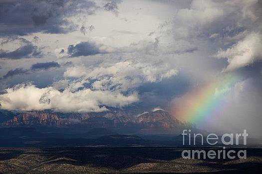 Thunder Mountain Rainbow from Jerome by Ron Chilston