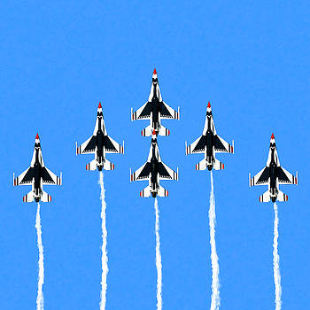 Thunderbirds Flying In Formation by Mark Tisdale