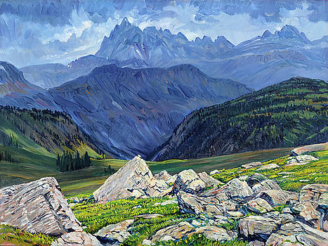 Thunderheads at Fox Creek Pass by Steve Spencer