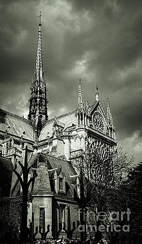 Thunderous Notre Dame Black and White by Marina McLain