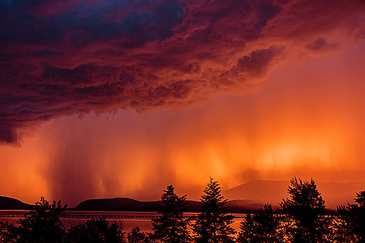 Thunderstorm at Sunset 2 by Albert Seger