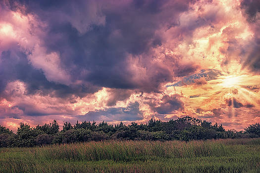 Thunderstorm at Sunset by Louise Hill