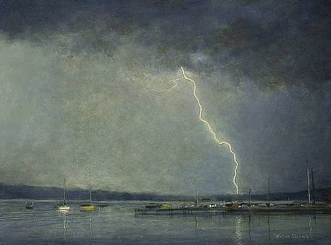 Thunderstorm over Cazenovia Lake by Wayne Daniels