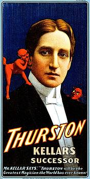 Thurston, Kellar's successor, magician poster, 1908 by Vintage Printery