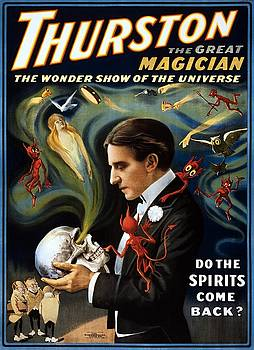 Thurston the great magician, the wonder show of the universe, performing arts poster, 1915 by Vintage Printery