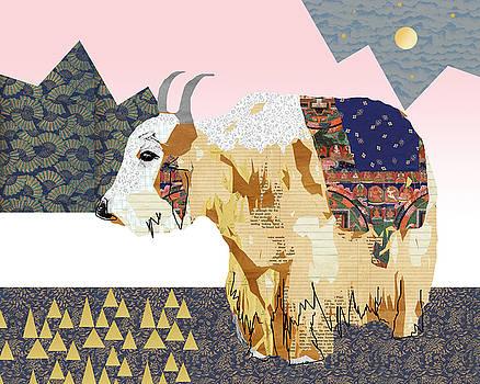 Tibet Yak Collage by Claudia Schoen