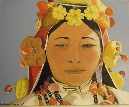 Tibetan Celebration Orginal by Catherine Eager