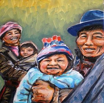 Tibetan Family by Sheila Tajima