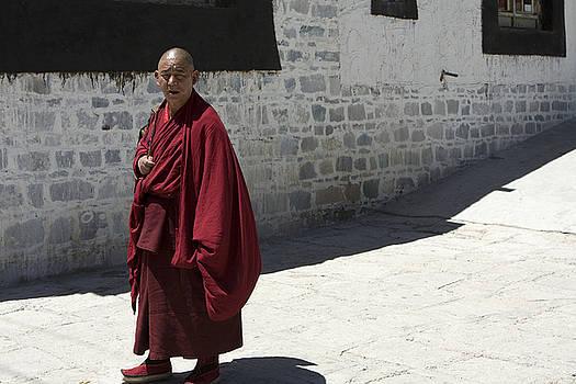Tibetan monk by Arabesque Saraswathi