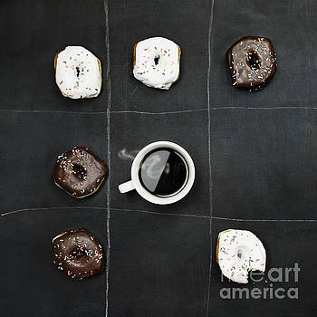 Tic Tac Toe Donuts and Coffee by Stephanie Frey