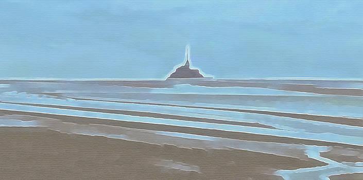 Tide in the Bay of Mont Saint Michel by Menega Sabidussi