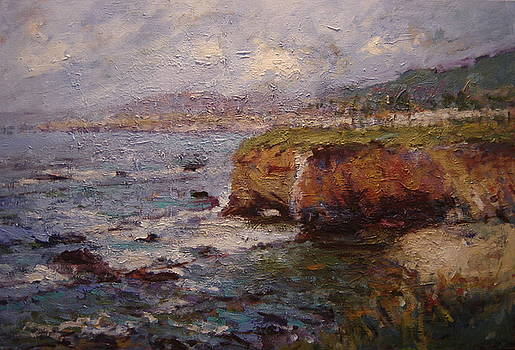 Tidewater on the cliffs II by R W Goetting