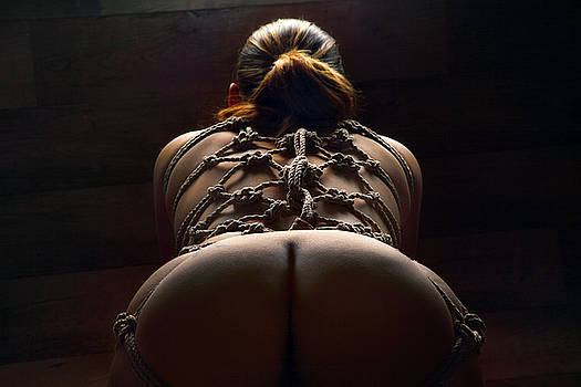 Rod Meier - Tied back harness - Fine Art of Bondage