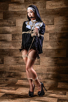 Rod Meier - Tied, gagged nun - Fine Art of Bondage