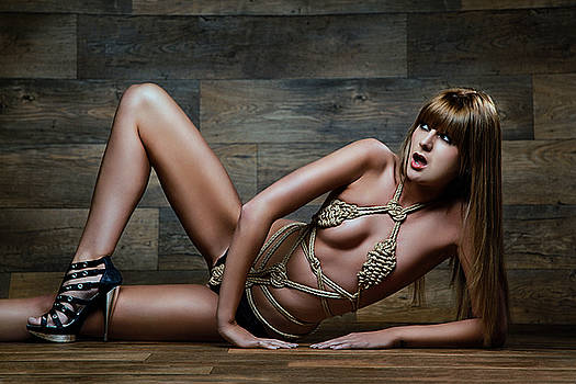 Rod Meier - Tied rope bikini - Fine Art of Bondage