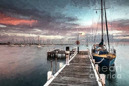 Tied up in Corio Bay by Howard Ferrier