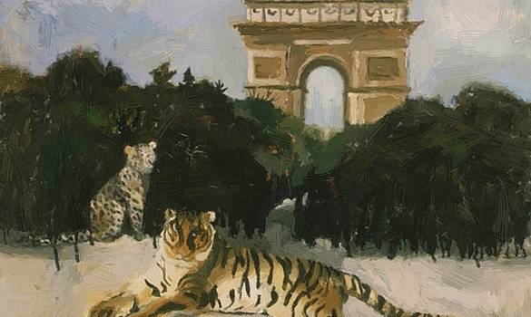 Wood Christopher - Tiger And Arc De Triomphe 1930