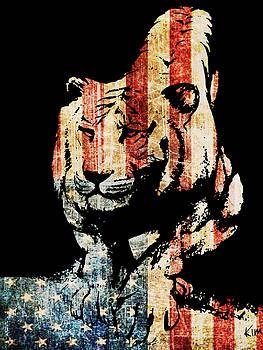 Tiger collage #9 by Kim Gauge