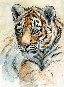 Tiger Cub portrait 865 by Svetlana Ledneva-Schukina