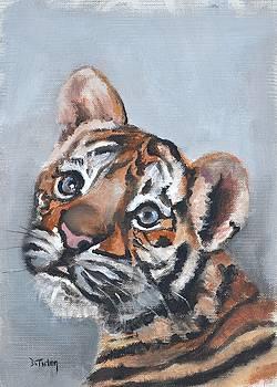 Tiger Cub Safari Animal Painting by Donna Tuten