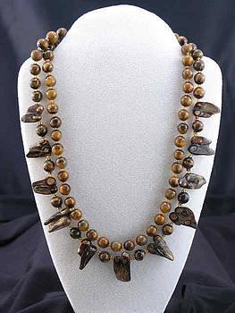 Tiger-Eye Shell Necklace by Sarupa  Shrestha
