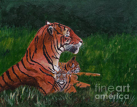 Tiger Family by Laurel Best