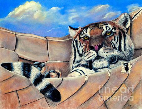 Tiger in a Hammock by Marianne Harris