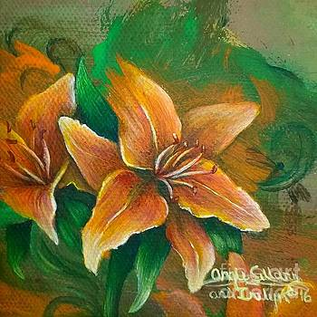 Tiger Lilies and Twirls by Angie Sellars