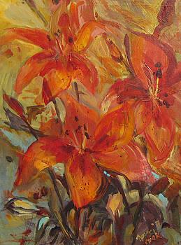 Tiger Lilies by Nanci Cook