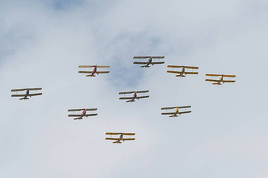 Tiger Moth formation by Gary Eason